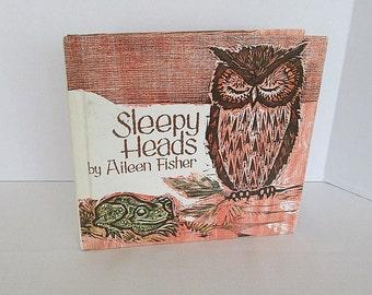 Sleepy Heads by Aileen Fisher Vintage Children's Book