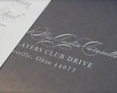 White Ink Addressing for Wedding Invitations Digital Calligraphy Addressing, Digital Addressing, Envelope Addressing