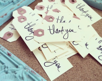 thank you tags, bulk 25 ct for weddings, birthday parties, favors, *thank you gift tag*