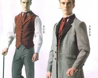 Men Steampunk Victorian Historical Dickens Frock Coat Vest Pants Sewing Pattern McCalls 7003 Size S M L Xl Xxl 34 36 38 40 42 44 46 48 50 52