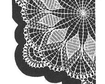 Vintage Crochet PATTERN  in PDF File Design 7138 Doily 1960s Instant Download