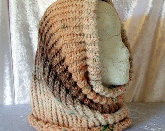 Wool blend Knit cowl - great shaded effect - in a few lovely colors