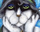 Margot Flapper Cat, Roaring 1920s Cat Portrait 8x10 Fine Art Print