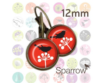 Funky Forest - 12mm x 12mm Round earring and pendant Images -144 images- BUY 2 GET 1 FREE