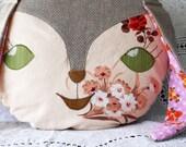 Bunny rabbit vintage fabric cushion pillow