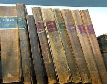 Old Law and History Books Published in 1800s - Photograph
