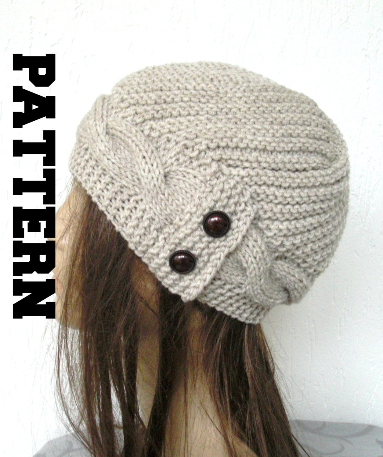 Winter Knitting Pattern Knit Hat Digital Hat Knitting Pattern Pdf Women  Cable Knit Hat Pattern Victorian