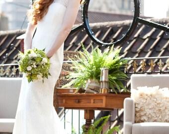 Sample Sale! Ivory Lady Sheena Floral Lace Size 10UK/ Size 6US