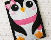 "iPad Mini Case, Nook sleeve, Nook cover, Nook case, Nook Simple Touch case, Nook HD cover, Nook HD+ case,Nook Glowlight cover, ""Penguin"""