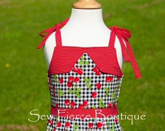 Vintage Retro Style Girls Summer Dress Size 4T - Rockabilly - 50's