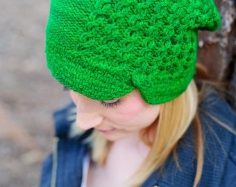 make your own Flynn Slouch or Beanie Hat (DIGITAL KNITTING PATTERN)