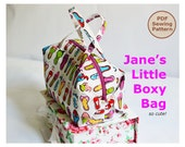 Jane's Little Boxy Bag PDF Easy Sewing Pattern and Tutorial INSTANT DOWNLOAD