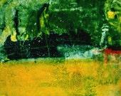 Abstract Contemporary Fine Art Monoprint : MidSummerNight