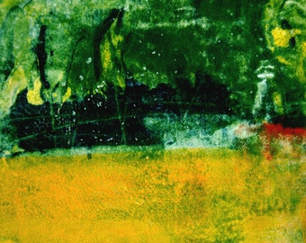 Abstract Contemporary Fine Art Monoprint : MidSummerNight