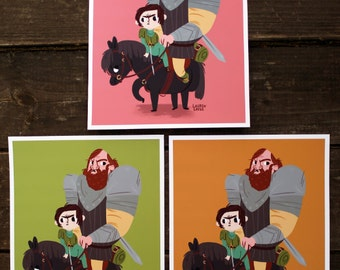 Game of Thrones // Arya and the Hound print