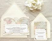 Old World Map Travel Wedding Invitations - Destination Wedding - World Map Wedding - World Traveler