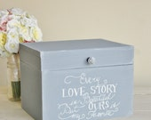 Rustic Chic Wedding Card Box Every Love Story (Item Number MMHDSR10041)
