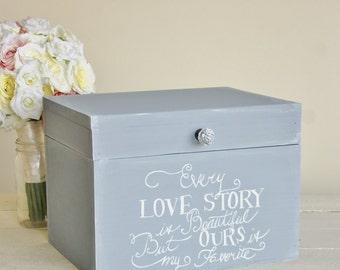 Rustic Chic Wedding Card Box Every Love Story (Item Number MMHDSR10041)