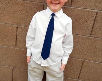 Navy Blue Tie - Skinny or Standard - Infant, Toddler, Boy       EASTER                           2 weeks before shipping