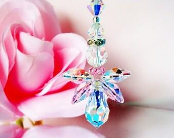 Angel Ceiling Fan Pull Chain Swarovski Crystal Pink Little Girls Room Nursery Decor