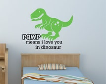 Popular items for rawr means i love you in dinosaur on Etsy