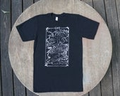 Game of Thrones Map of Westeros T-Shirt American Apparel Black Tee for Men / Unisex.