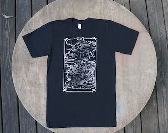 Game of Thrones Map of Westerns American Apparel T-Shirt  Black Tee for Men / Unisex.