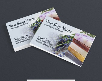 Business Card Designs - Printable Business Card Design - Premade - Soap 2