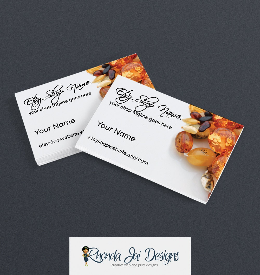 Business card designs etsy shop business cards printable for Etsy shop business cards
