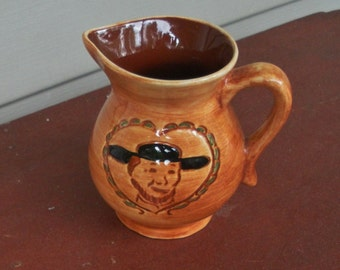 Vintage Amish Man Pennsbury Pottery Pitcher Creamer