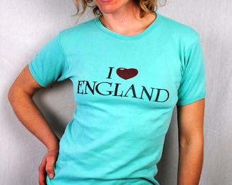 Vintage 1970s Tee Shirt - I Heart England