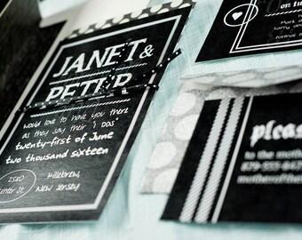 Chalkboard, a printable Wedding Invitation
