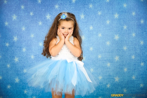Cinderella tutu- Run Disney tutu- Cinderella Costume, Baby Cinderella Costume- Disney Princess tutu- Light Blue tutu- Princess Costume