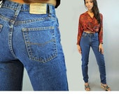 Vintage Denim Jeans 80s Mom Jeans High Waisted Jeans JORDACHE JEANS Denim Blue Jeans High Waist Taper Jeans Womens Vintage Jeans 30 Waist