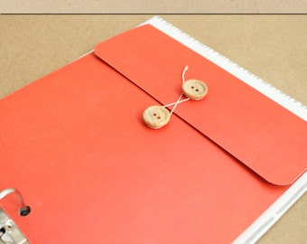 Keepsake Envelope - Coral Orange -  Include in your Two Giggles Baby Album