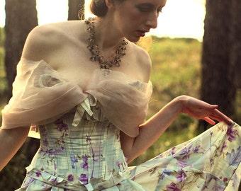 Custom Damsel Dress and Accessories | Ghostly Dress | Elegant 1950s | Fairytale Wedding Dress | Fairy Dress | Faeire Costume | Bridal Gown
