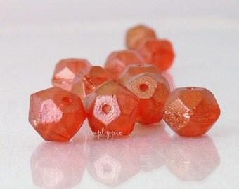 BITTERSWEET LUSTER, English-Cut Czech Glass Beads 10mm 10