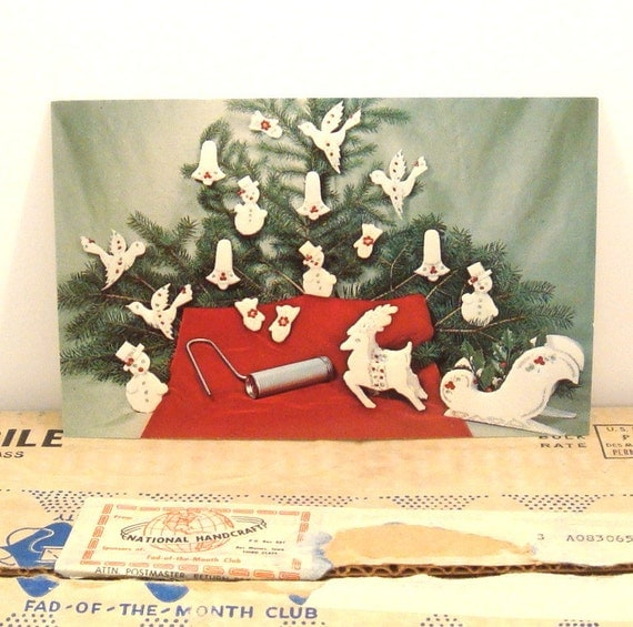 Christmas ornament craft kit vintage 1960s kitschy fad of the for Craft of the month club