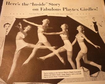 Vintage Ad - Playtex Girdles- 1950s style - Original ad