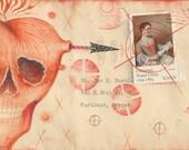 Skull Heart Valentine Postcard