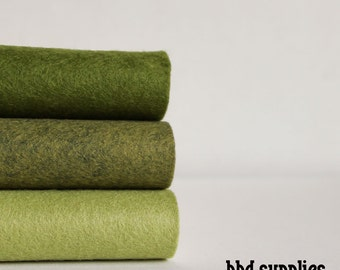 Greensleeves - Wool Blend Felt Sheets - 3 sheets