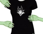 VoodooSugar Maleficent Black Missy Fit t-shirt Plus Sizes Available