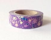 Purple Paint Splash Washi Tape Chugoku (in-bk) Scrapbooking, gift wrapping