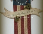 Primitive Americana Flag with Banner