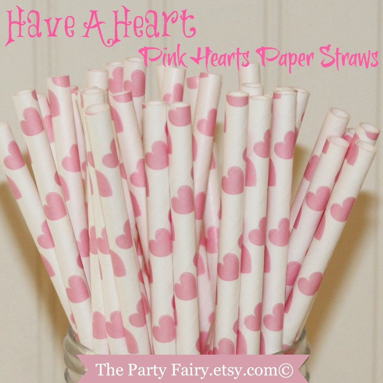 heart on a paper straw paper straws 25 pink hearts paper straws straws 6703