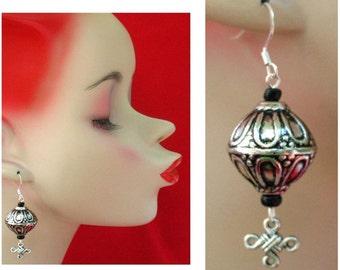 Silver Celtic Dangle Earrings Handmade Jewelry Women Accessories Fashion NEW