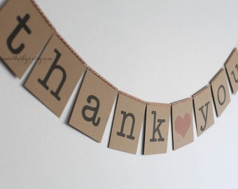 "FREE SHIPPING - ""thank you"" bunting banner-Photo Prop"