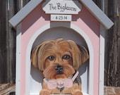Wedding Card Box Dog House - Card Box for Medium Weddings