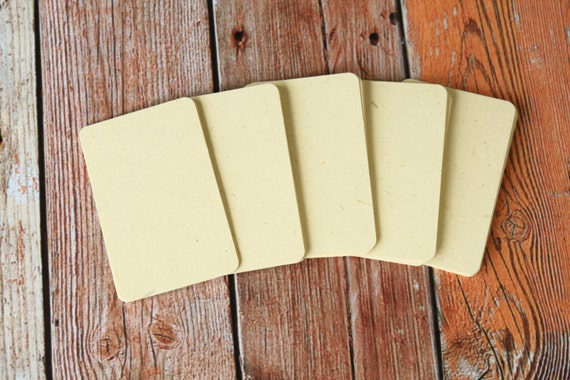 50pc STRAW Cream Inclusions Series Business Card Blanks