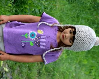 Girls Hat, Kids Hat, Children s Hat, Boys Hat, Crochet Beanie, Ear Flap Hat, Winter Fashion, Oyster